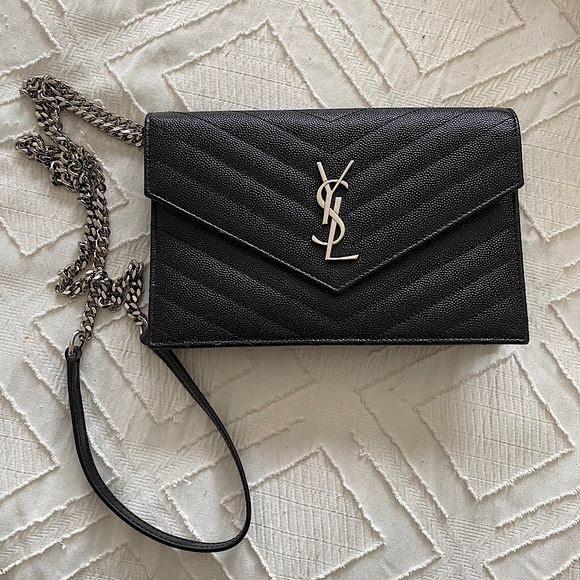 YSL Saint Laurent Envelope Chain Wallet